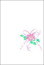 カラー挨拶はがき 「花」 K51