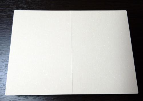 フェザーワルツ象牙A5二つ折カード