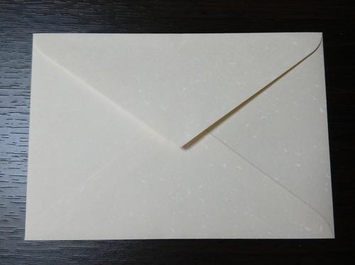 フェザーワルツ象牙 洋2小封筒 裏面