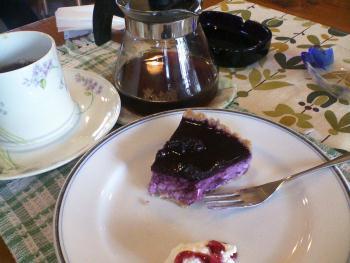 ブルベリーチーズケーキ