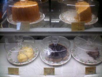 ケーキのメニュー