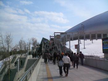 札幌ドーム 階段