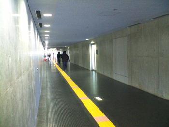 札幌ドーム 南ゲートへの通路