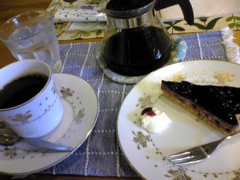 2007/08/17 キャトル ブルーベリーチーズケーキセット 1