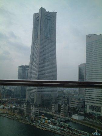 観覧車から俯瞰・鳥瞰したランドマークタワーっす。