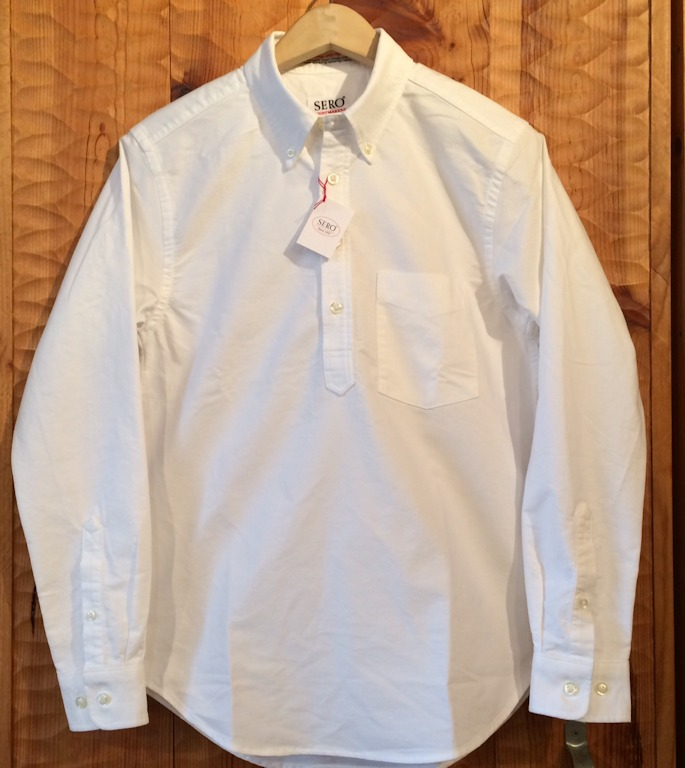SERO PULL OVER SHIRTS WHITE OXFORD