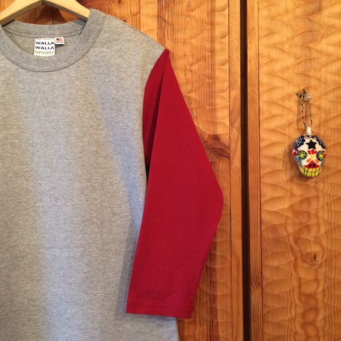 WALLA WALLA SPORTS SET IN SLEEVE BASEBALL TEE
