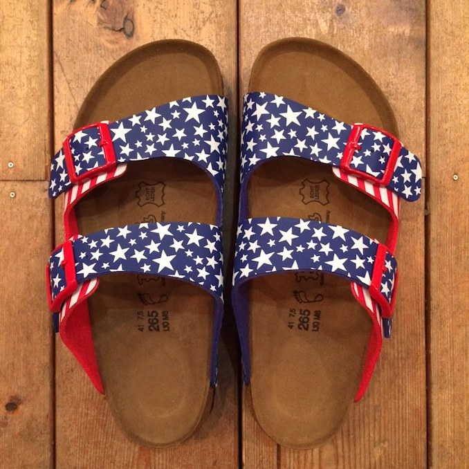 BIRKIS USA FLAG SANDAL