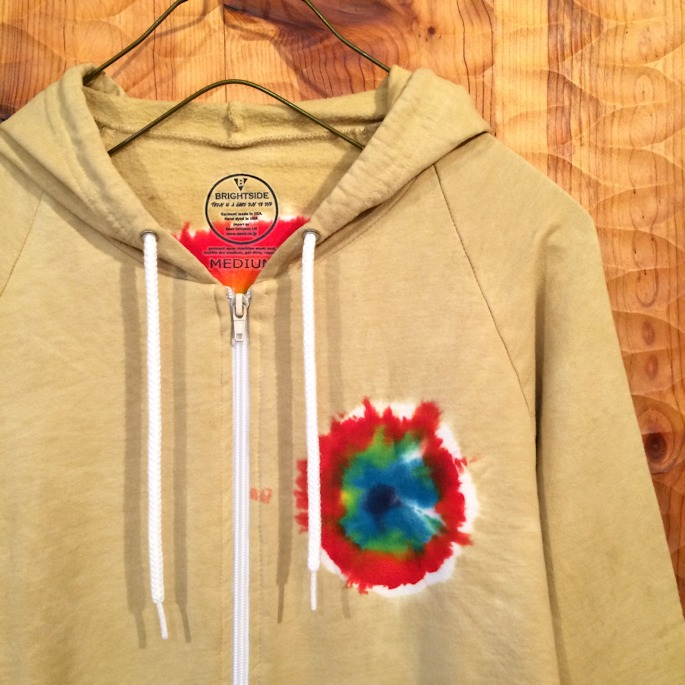 FARMHOUSE 別注 BRIGHT SIDE TIE DYE HOODIE