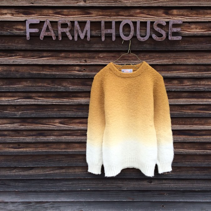 NORMAN TULLOCH BRUSHED DIP DYE KNIT FARMHOUSE京都