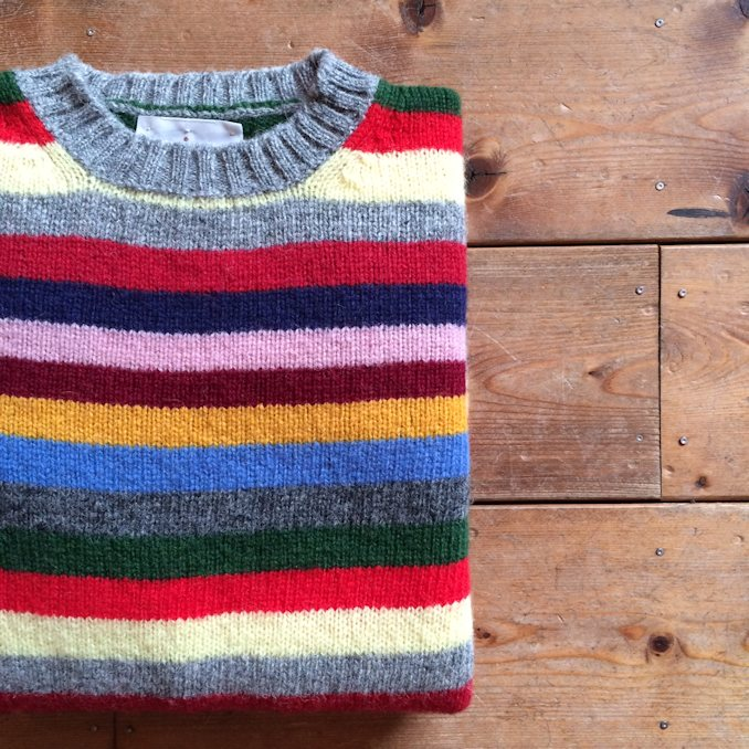 JAMIESONS MULTI BORDER KNIT FARMHOUSE京都