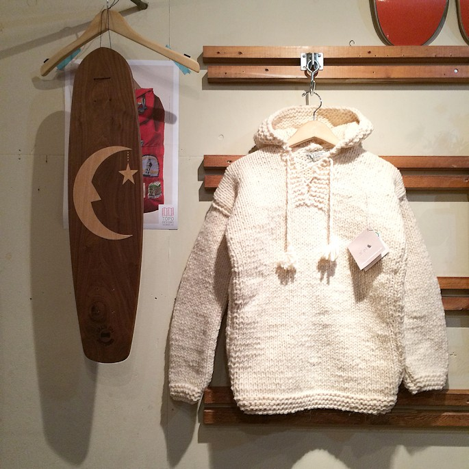 MOROCCAN WHITE LONDON WOOL JUMPER FARMHOUSE京都