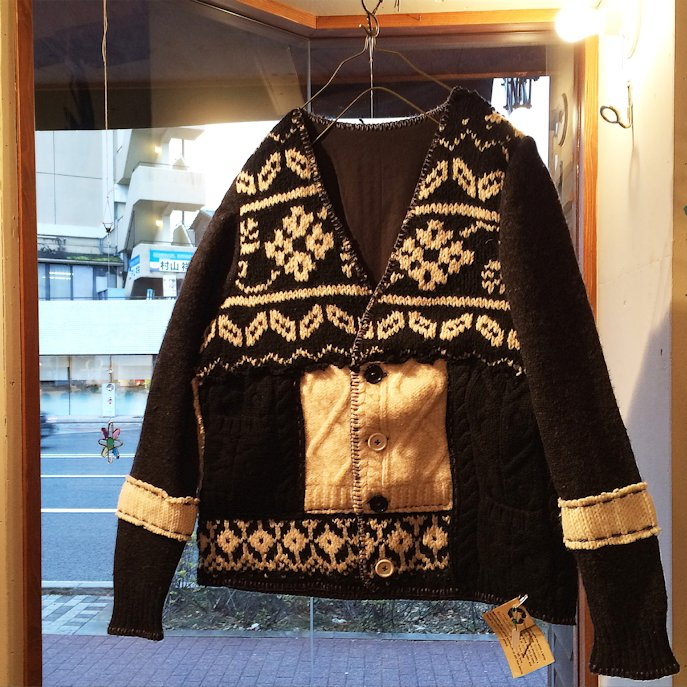 NORTHLAND WOOLENS UPCYCLE CARDIGAN MADE IN USA FARMHOUSE京都