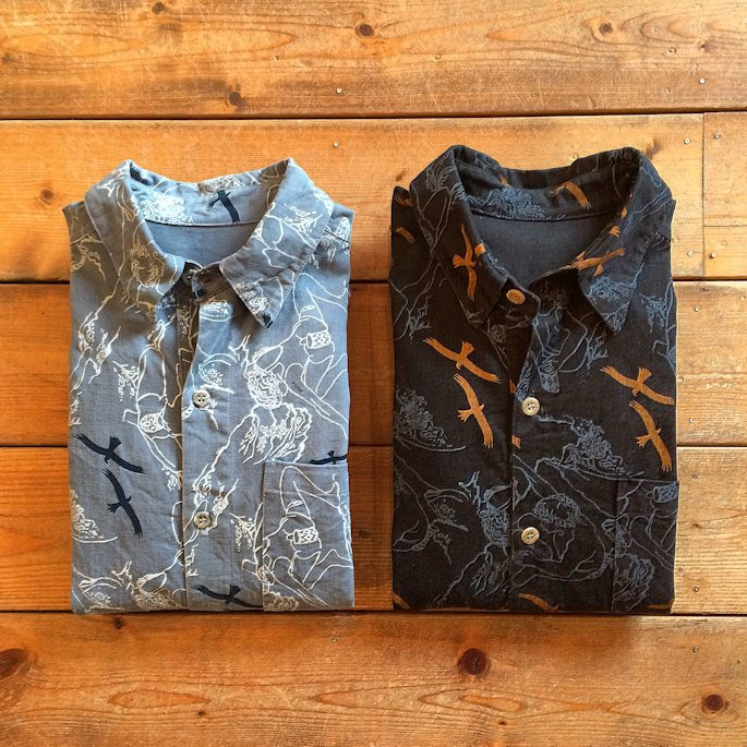WILDTHINGS CLIMBER PRINT SHIRTS MADE IN USA FARMHOUSE京都