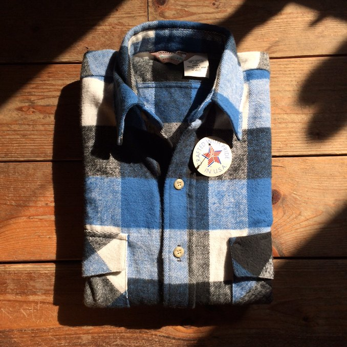 DEAD STOCK WINTER RUN HEAVY FLANNEL SHIRTS MADE IN USA FARMHOUSE京都