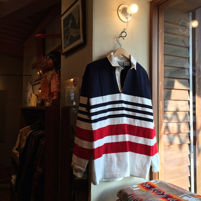 DEAD STOCK COLUMBIA KNIT RUGBY SHIRTS MADE IN USA FARMHOUSE京都