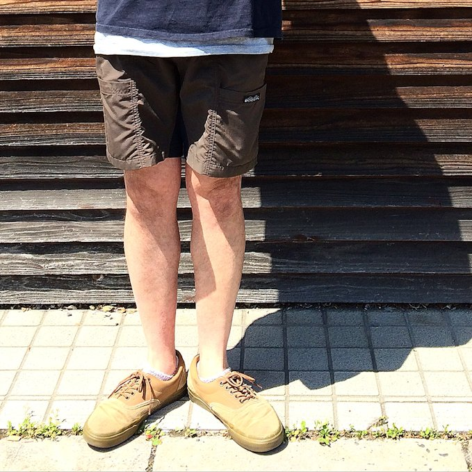 MOCEAN VELOCITY SHORTS BROWN MADE IN USA FARMHOUSE京都