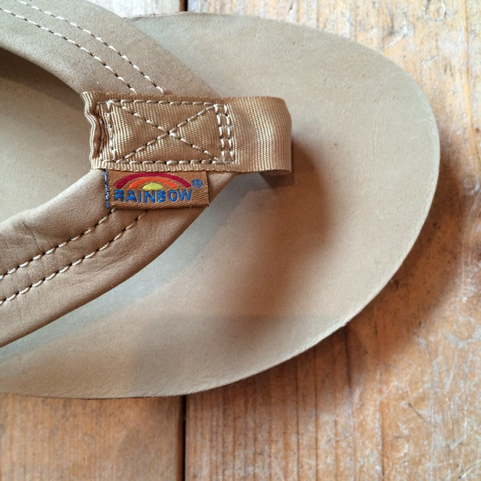 RAINBOW SANDAL PREMIER LEATHER DOUBLE LAYER SIERRA BROWN FARMHOUSE京都