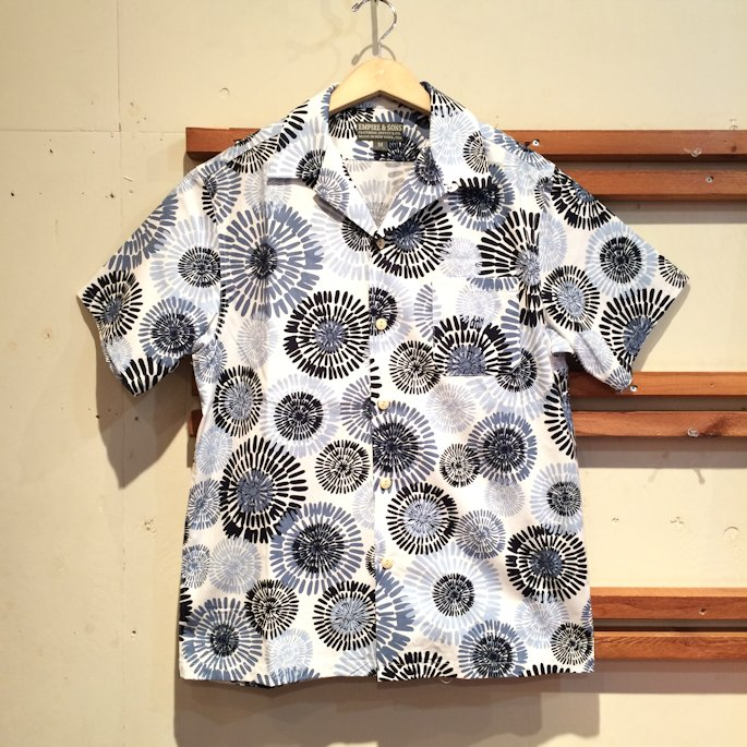 EMPIRE&SONS CAMP SHIRTS BLUE DAISY MADE IN USA FARMHOUSE京都