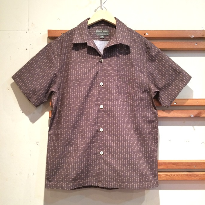 EMPIRE AND SONS CAMP SHIRTS BROWN RAIN MADE IN USA FARMHOUSE京都