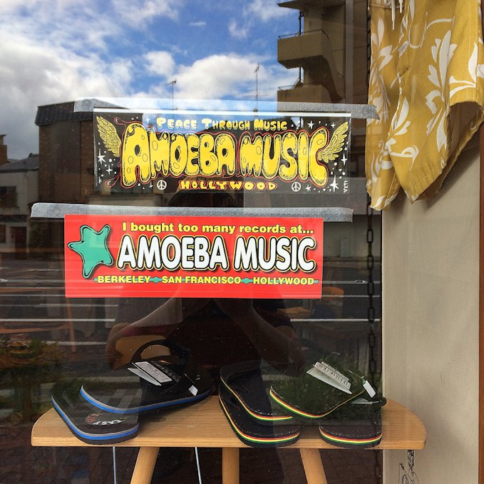 AMOEBA MUSIC BUMPER STICKER FARMHOUSE京都