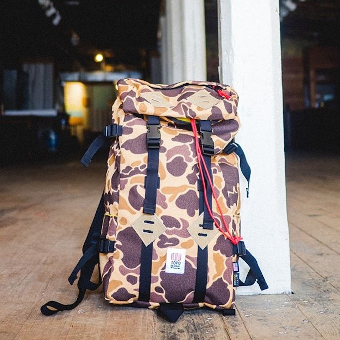 TOPO DESIGNS KLETTERSACK DUCK CAMO FARMHOUSE京都