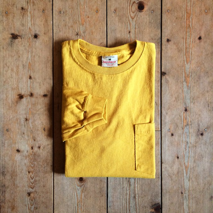 GOOD WEAR L/S POCKET TEE 取扱店 FARMHOUSE京都