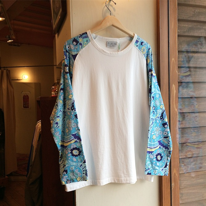 DEAD STOCK URBAN INSTINCT FLOWER SLEEVE TEE MADE IN USA FARMHOUSE京都