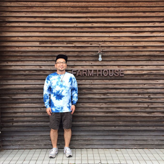 GOOD WEAR L/S POCKET TEE MURA DYE INDIGO 取扱店 FARMHOUSE京都