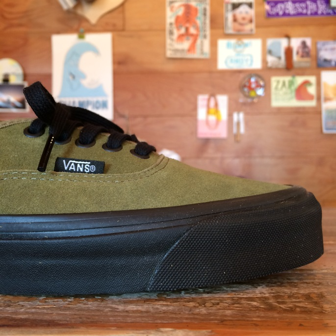 VANS AUTHENTIC 44DX ANAHEIM FACTRY  OLIVE SUEDExBLACK SOLE FARMHOUSE京都