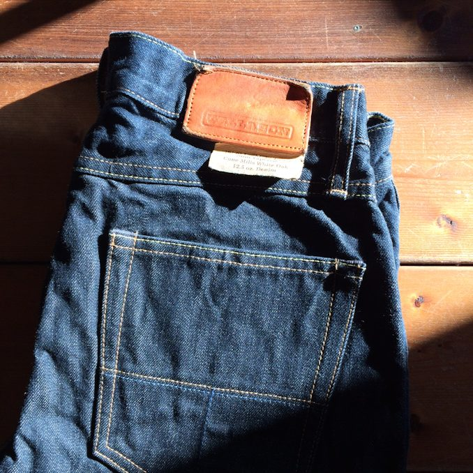 TELLASON SLIM TAPERED WHITE OAK CONE DENIM FARMHOUSE京都