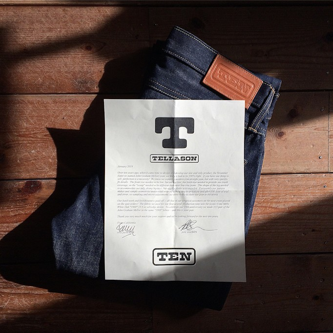 TELLASON 10TH ANNIVERSARY DENIM MADE IN USA FARMHOUSE京都