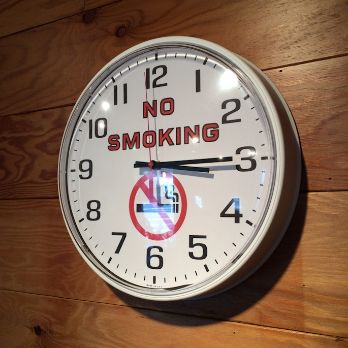 FRANKLIN CLOCK NO SMOKING FARMHOUSE京都