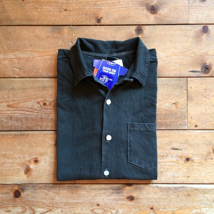 GOOD ON OPEN COLLAR SHIRTS PIGMENT BLACK FARMHOUSE 京都