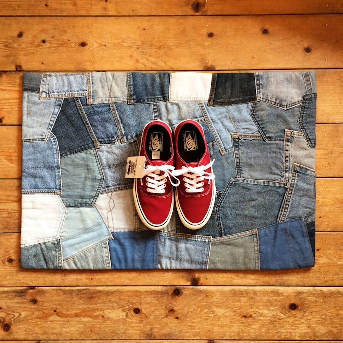 DENIM POCKET PATCHWORK RUG FARMHOUSE 京都