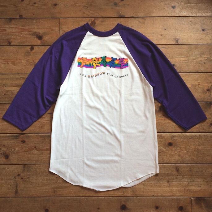DEAD STOCK GRATEFUL DEAD DANCING BEAR BASEBALL TEE MADE IN USA FARMHOUSE京都