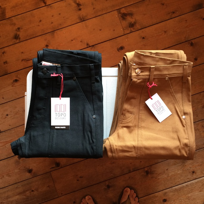 TOPO DESIGNS WORK PANTS MADE IN USA 通販 FARMHOUSE京都