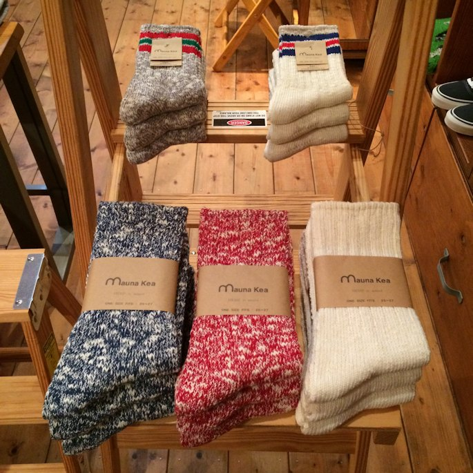 MAUNA KEA 3本ライン SOCKS  取扱店 FARMHOUSE京都