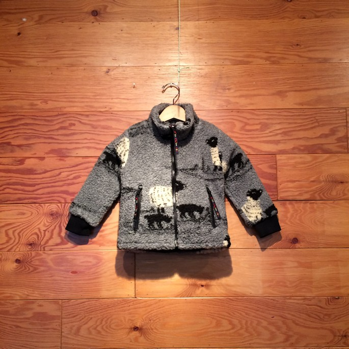 FARFIELD KIDS SHEEP & DOG FLEECE JACKET GREY FARMHOUSE京都