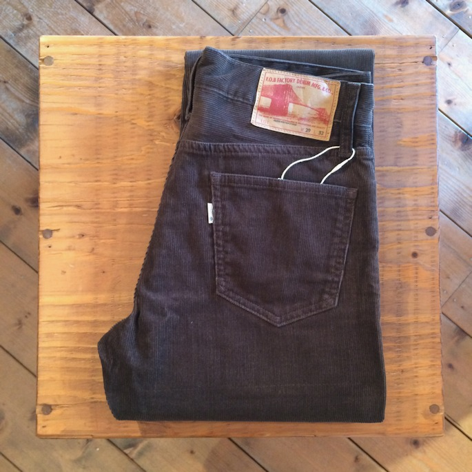 FOB FACTORY BROWN CORDUROY PANTS 取扱店 FARMHOUSE京都