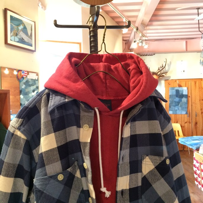 GOOD ON PULLOVER HOODIE CAMCO FLANNEL SHIRTS FARMHOUSE京都