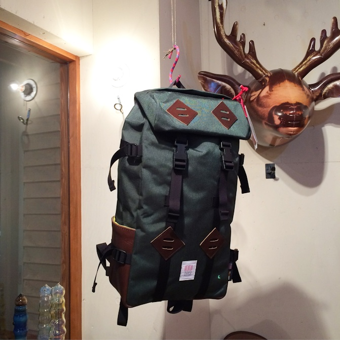TOPO DESIGNS KLETTERSACK FORESTxBROWN MADE IN USA FARMHOUSE京都
