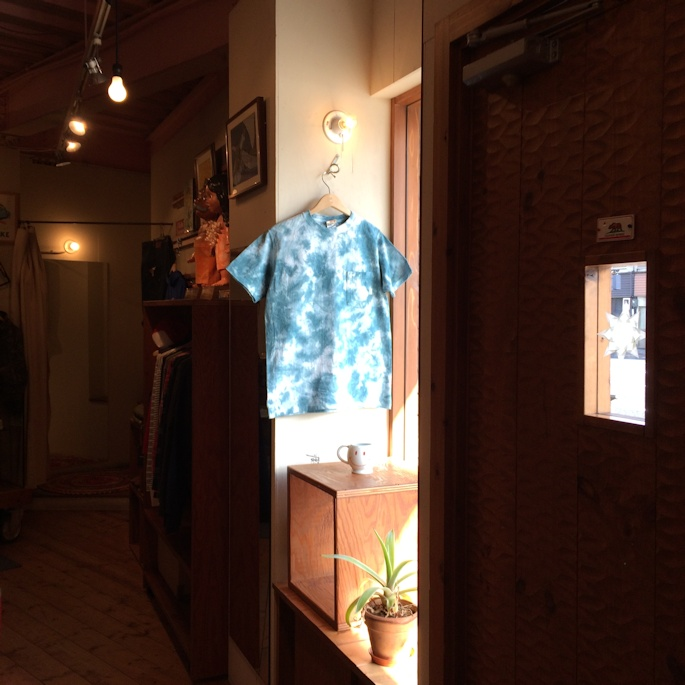 GOOD WEAR S/S  CRINKLE TIE DYE BLUEGRASS MADE IN USA FARMHOUSE京都