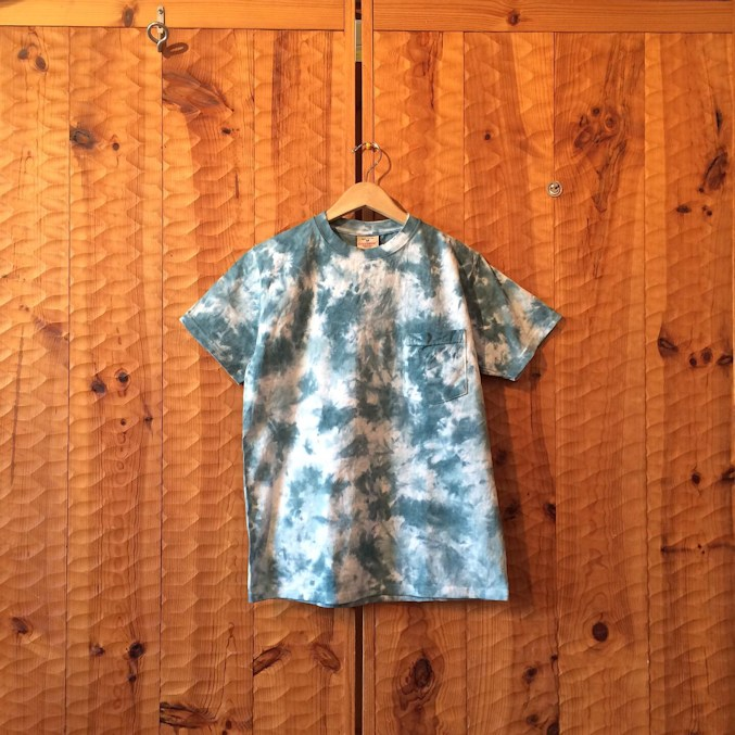 GOOD WEAR S/S  CRINKLE TIE DYE BLUEGRASS MADE IN USA FARMHOUSE京都
