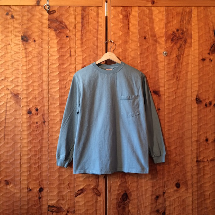 GOOD WEAR L/S POCKET TEE BLUEGRASS MADE IN USA FARMHOUSE京都