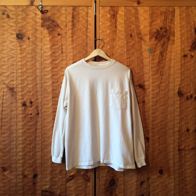 GOOD WEAR L/S POCKET TEE NATURAL MADE IN USA FARMHOUSE京都