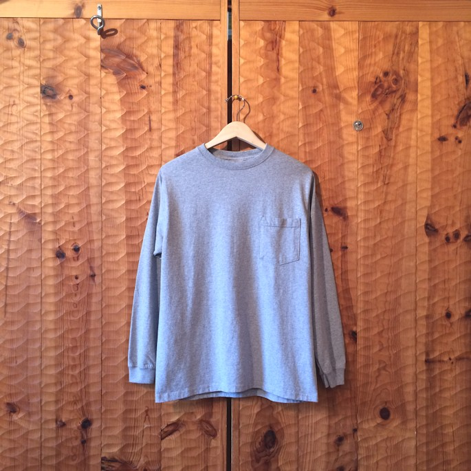 GOOD WEAR L/S POCKET TEE OXFORD GREY MADE IN USA FARMHOUSE京都