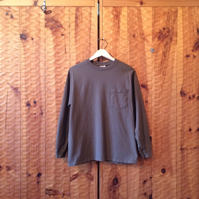 GOOD WEAR L/S POCKET TEE GREYSHBROWN MADE IN USA FARMHOUSE京都
