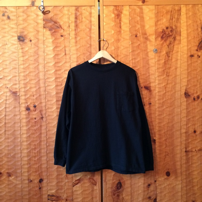 GOOD WEAR L/S POCKET TEE BLACK MADE IN USA 取扱店 FARMHOUSE京都