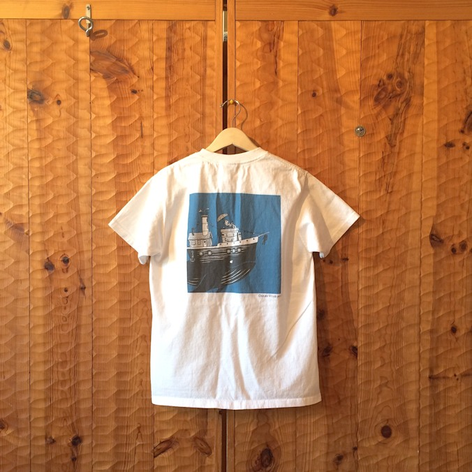 GOOD WEARxJONAS CLAESSON POCKET TEE OCEAN VOYAGER MADE IN USA FARMHOUSE京都